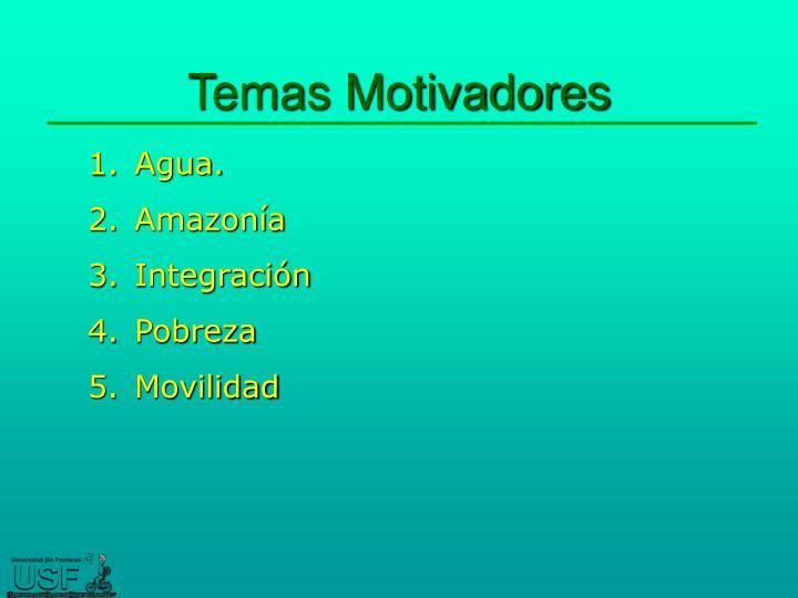 Temas Motivadores