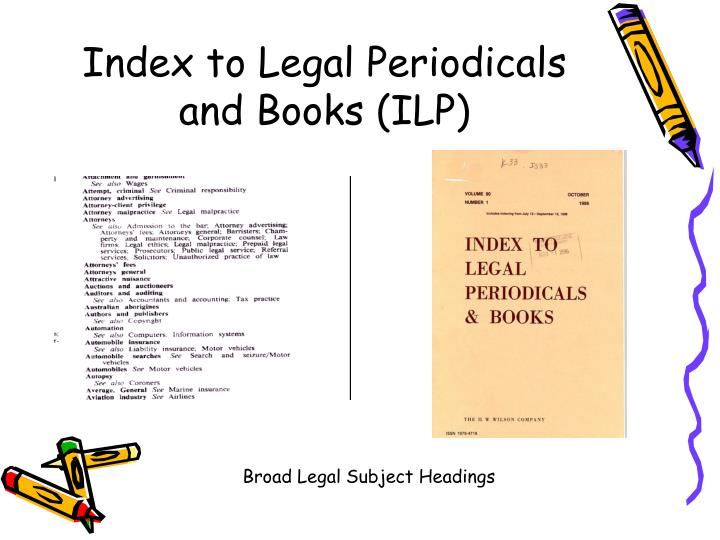 Index to Legal Periodicals and Books (ILP)