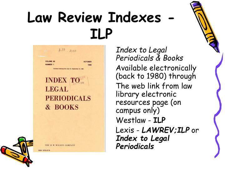 Law Review Indexes - ILP