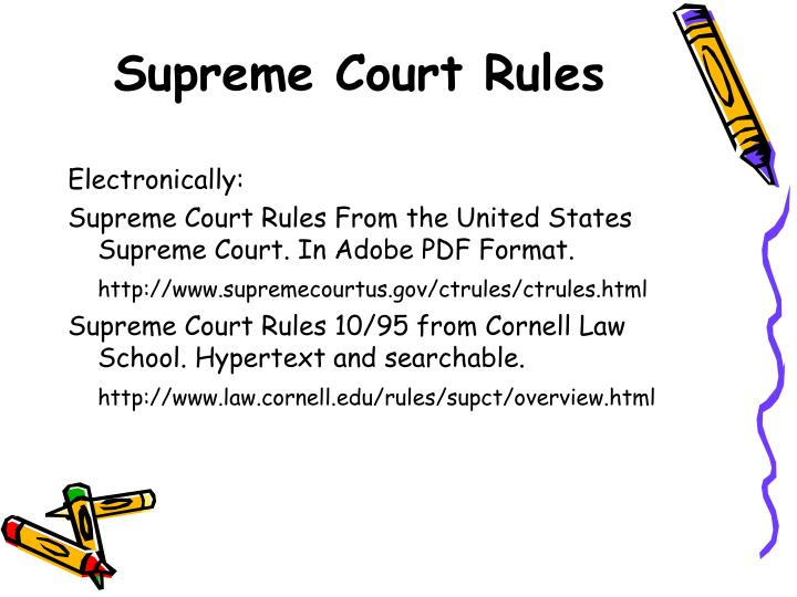 Supreme Court Rules