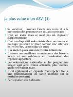 la plus value d un asv 1