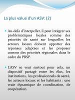 la plus value d un asv 2
