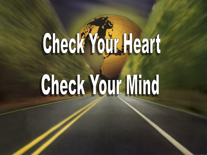 Check Your Heart