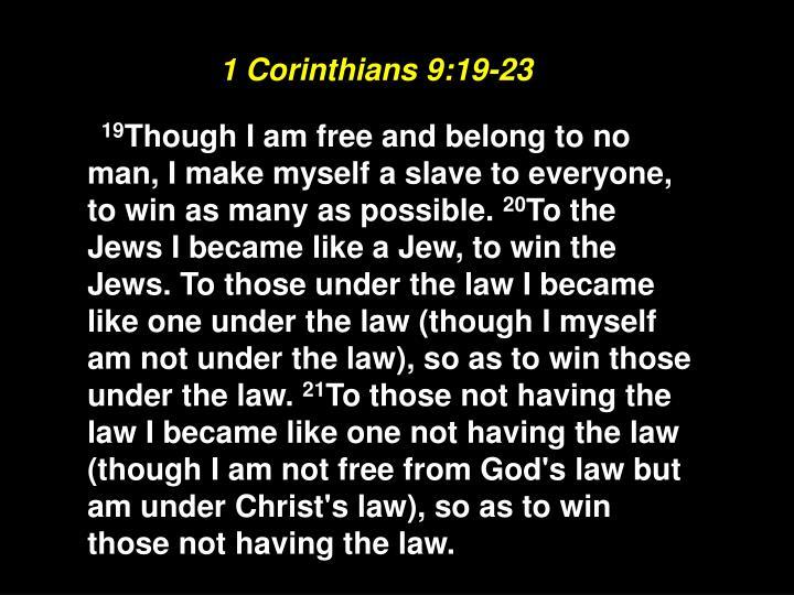 1 Corinthians 9:19-23