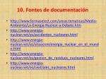10 fontes de documentaci n