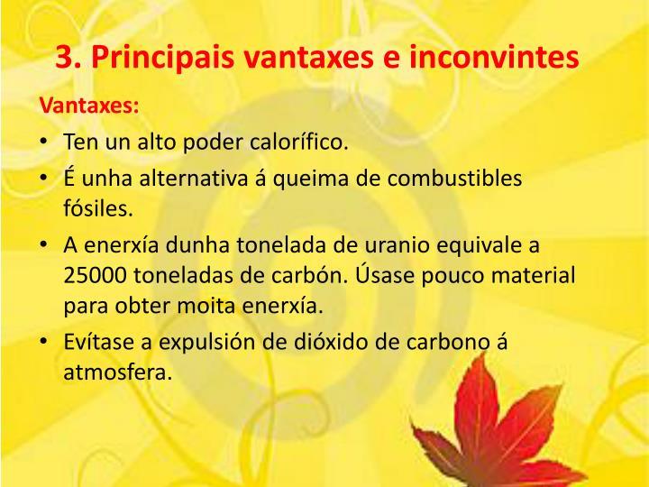 3. Principais vantaxes e inconvintes