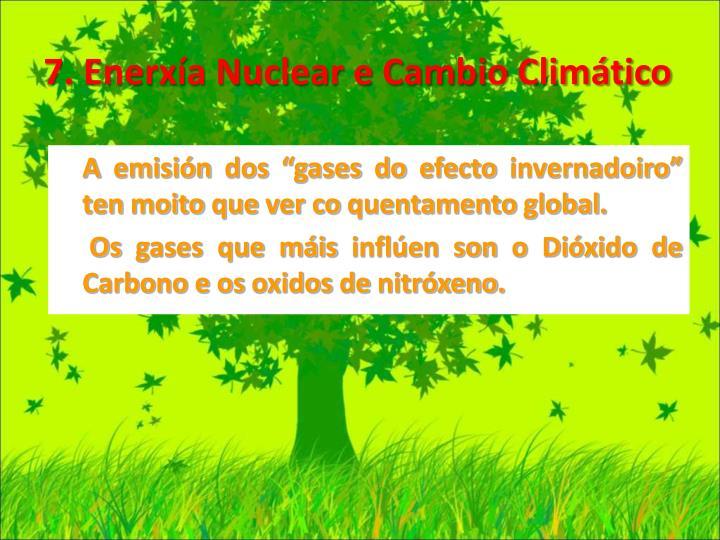 7. Enerxía Nuclear e Cambio Climático