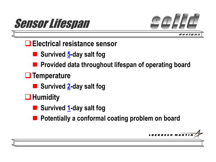Sensor Lifespan