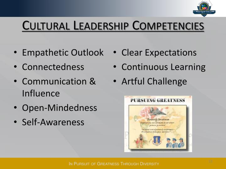 Cultural Leadership Competencies
