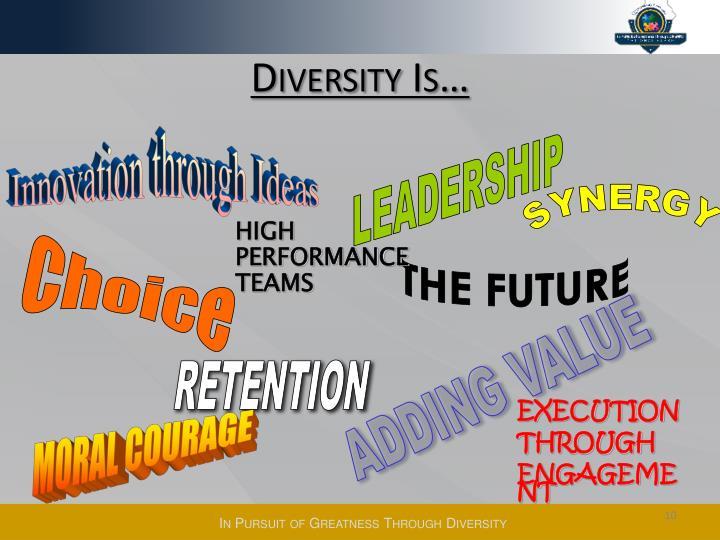 Diversity Is…