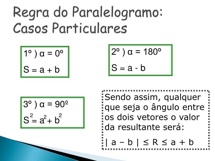 3º ) α = 90º