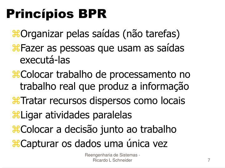 Princípios BPR
