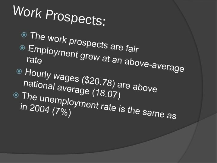Work Prospects: