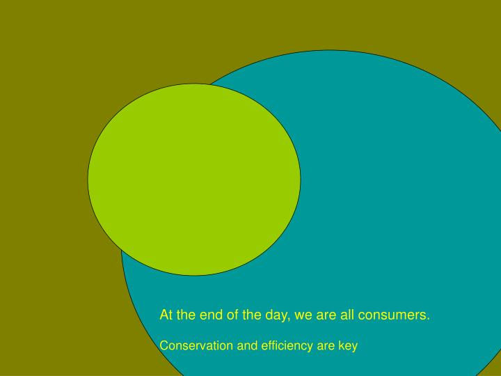 At the end of the day, we are all consumers.