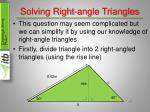 solving right angle triangles4