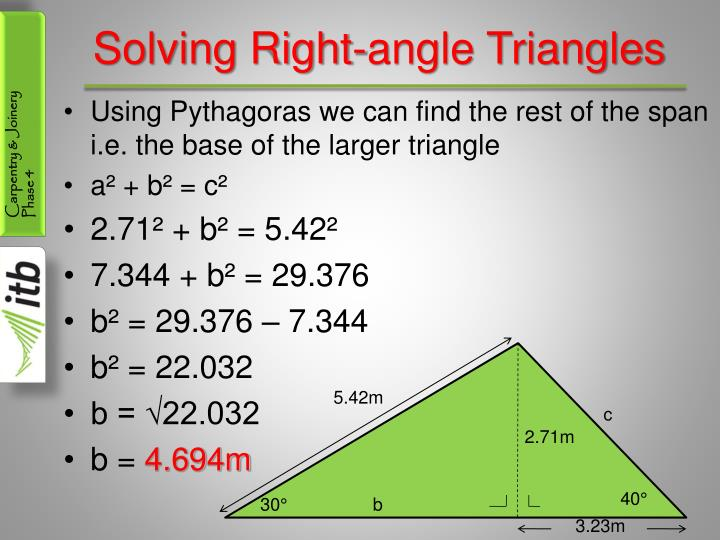 Solving Right-angle Triangles