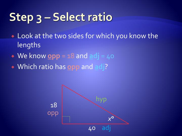 Step 3 – Select ratio