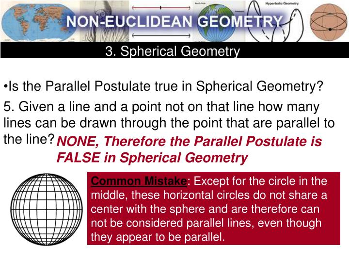 3. Spherical Geometry