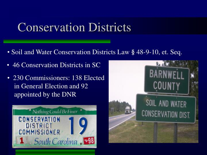 46 Conservation Districts in SC