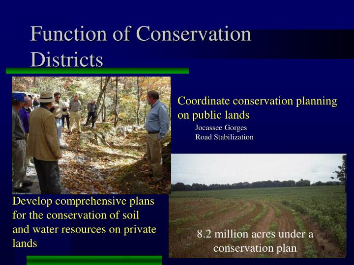 8.2 million acres under a conservation plan