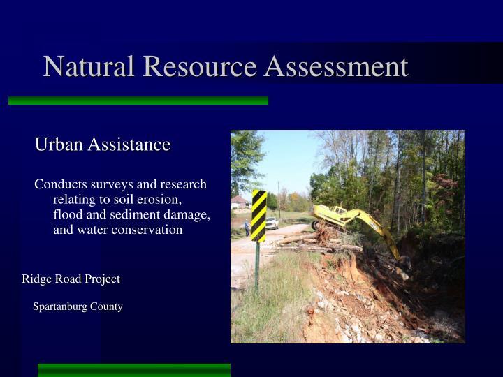Natural Resource Assessment