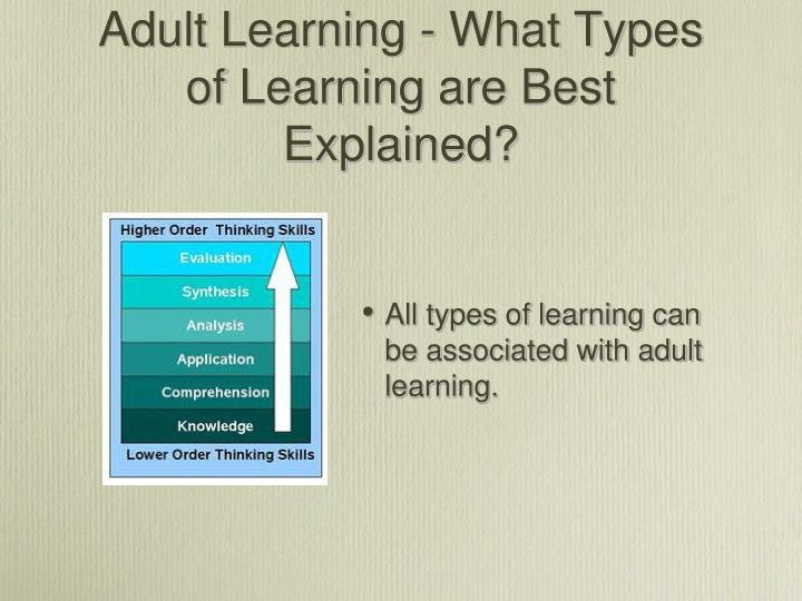 Adult Learning - What Types of Learning are Best Explained?