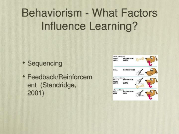 Behaviorism - What Factors Influence Learning?