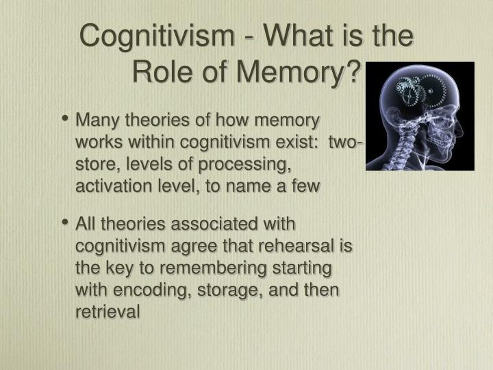 Cognitivism - What is the Role of Memory?