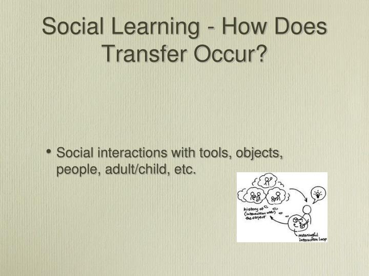 Social Learning - How Does Transfer Occur?