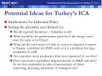 potential ideas for turkey s ica