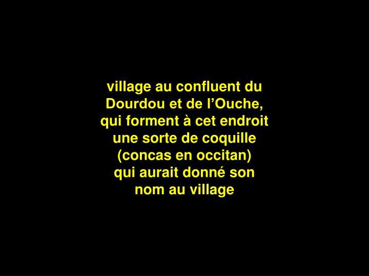 village au confluent du