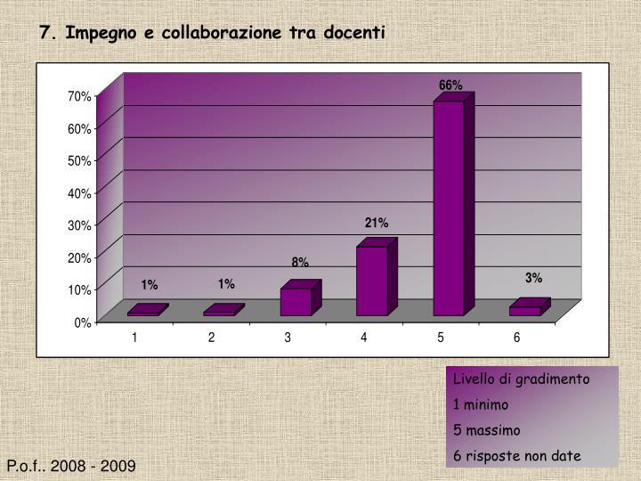 7. Impegno e collaborazione tra docenti