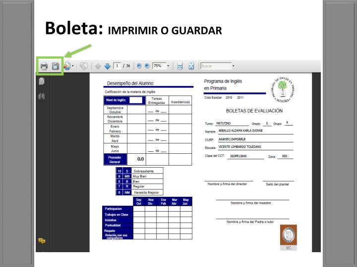 Boleta: