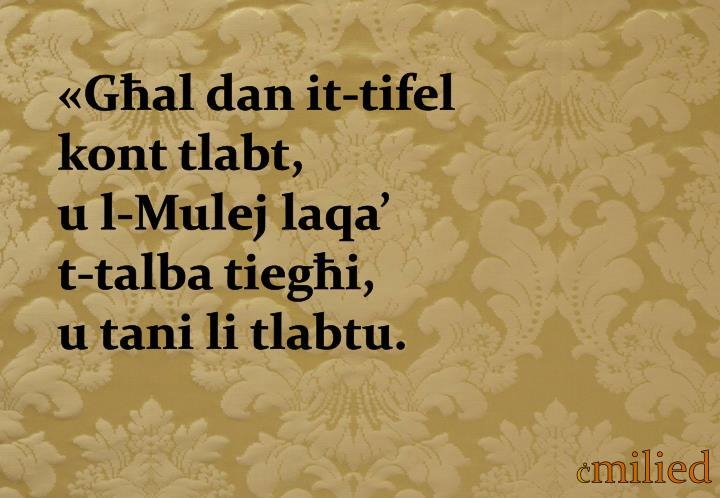«Għal dan it-tifel