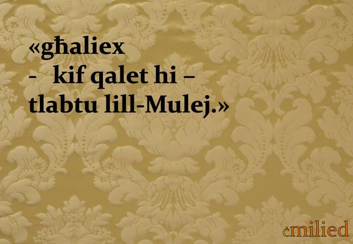 «għaliex