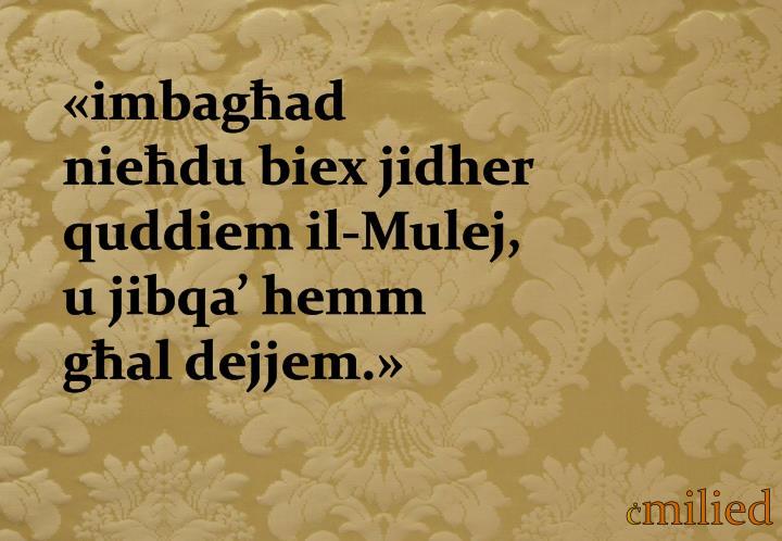 «imbagħad