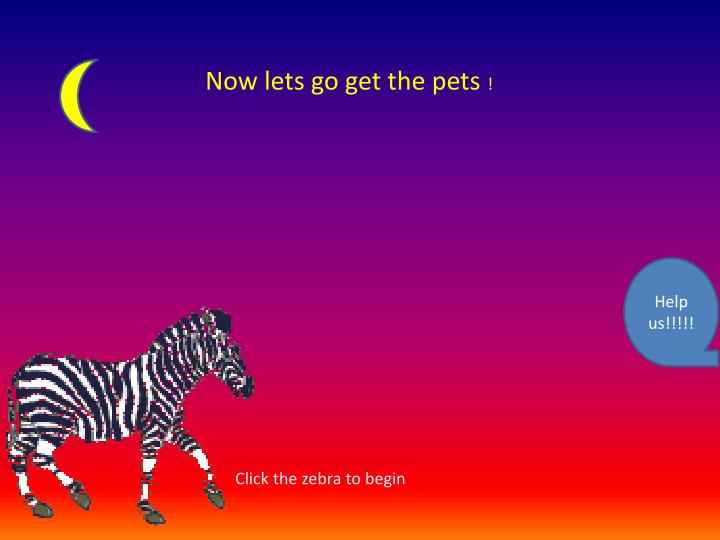 Now lets go get the pets