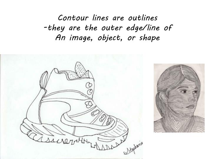 Contour lines are outlines
