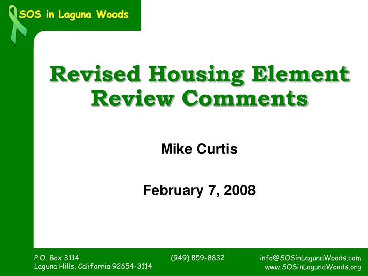 Revised Housing Element