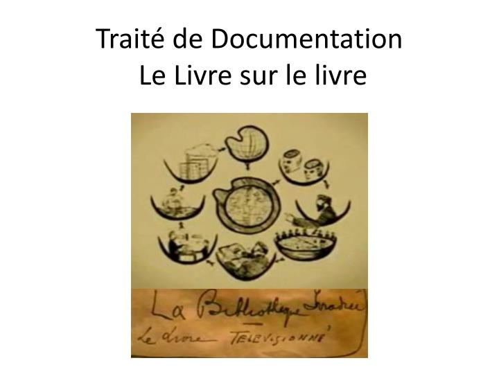 Traité de Documentation