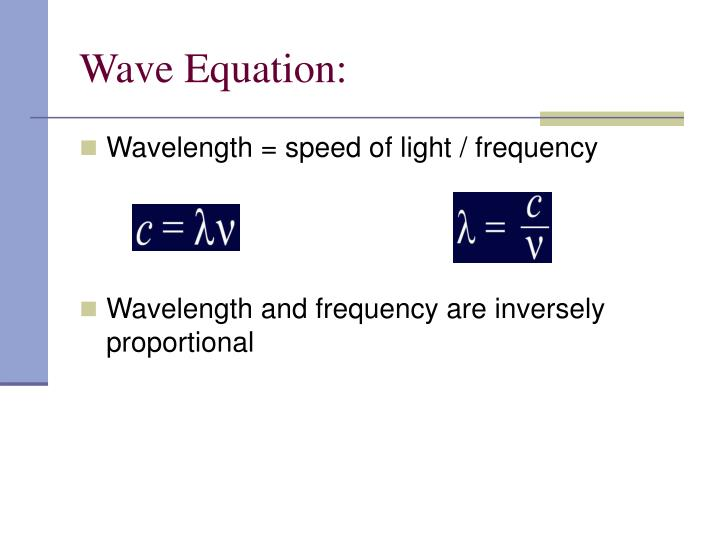 Wave Equation:
