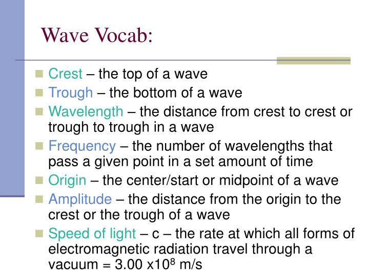 Wave Vocab: