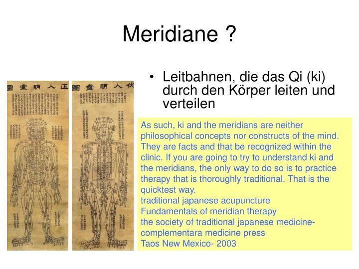 Meridiane ?