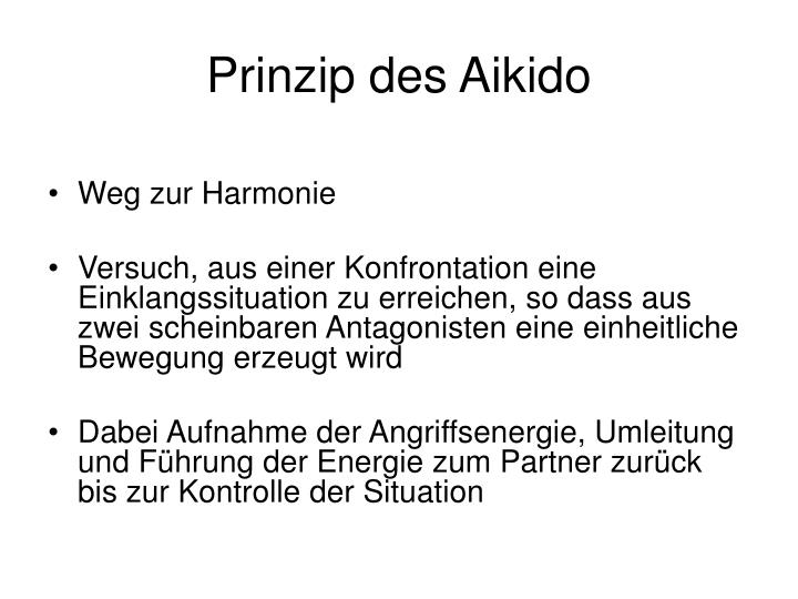 Prinzip des Aikido