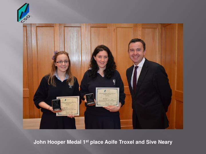 John Hooper Medal 1