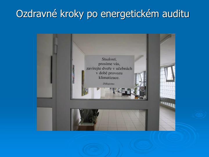 Ozdravné kroky po energetickém auditu