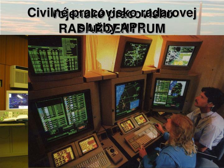Civilné pracovisko radarovej služby APP