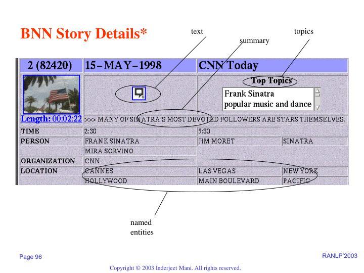 BNN Story Details*