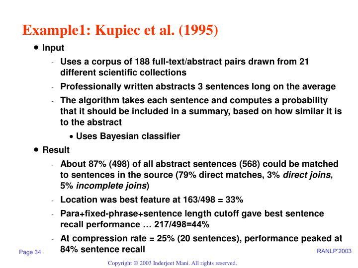 Example1: Kupiec et al. (1995)