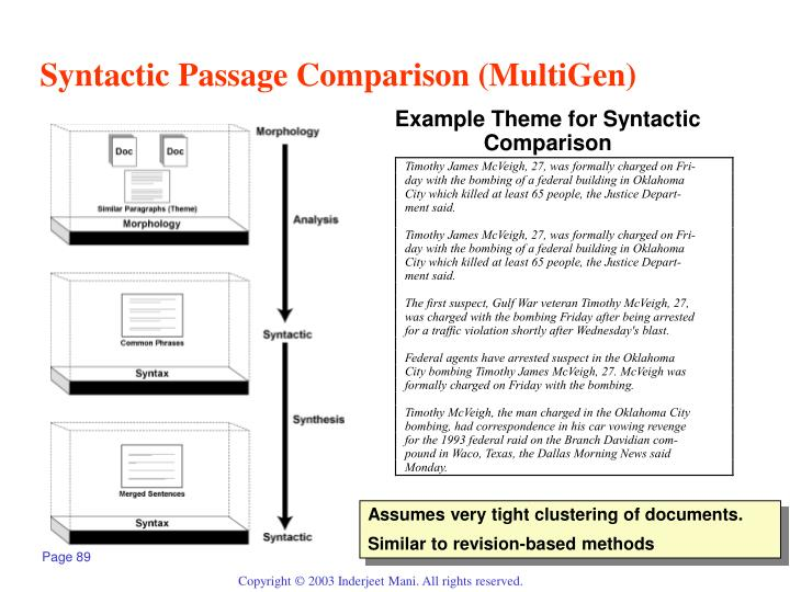 Syntactic Passage Comparison (MultiGen)